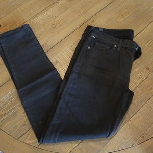 Citizen of Humanity black sheen Jeans